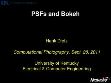 PSFs and Bokeh - The Aggregate