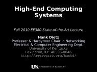 High-End Computing Systems - The Aggregate