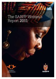 The SABPP Women's Report 2011 - University of Johannesburg