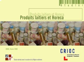 Produits laitiers et Horeca - Portail de l'Agriculture wallonne