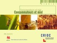 Consommateurs et miel - Portail de l'Agriculture wallonne