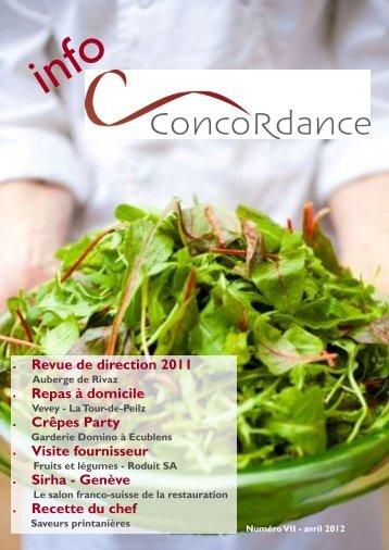 Revue de direction 2011 Repas à domicile ... - Traiteur Concordance
