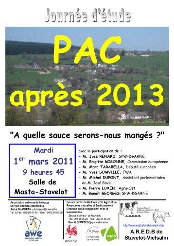 1 mars 2011 - Portail de l'Agriculture wallonne