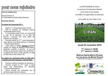 (10h et 14h) à Malèves-Sainte-Marie (Perwez) - Portail de l ...