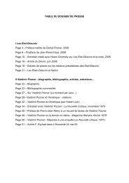 Téléchargez le dossier de presse complet (pdf) - Lux éditeur