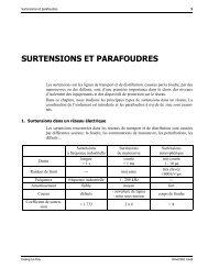 SURTENSIONS ET PARAFOUDRES
