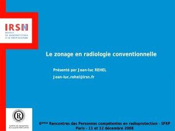 Le zonage en radiologie conventionnelle - IRSN