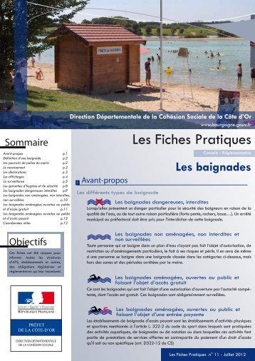 Baignades - Préfecture de la Région Bourgogne et de la Côte-d'Or
