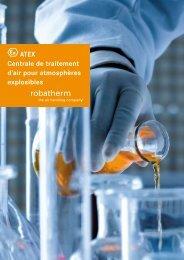 ATEX Centrale de traitement d'air pour atmosphères ... - robatherm