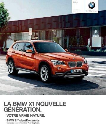 LA BMW X1 NOUVELLE G‰N‰RATION.