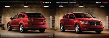DODGE CALIBER INSERT TECHNIQUE ET TARIFAIRE - Madness US
