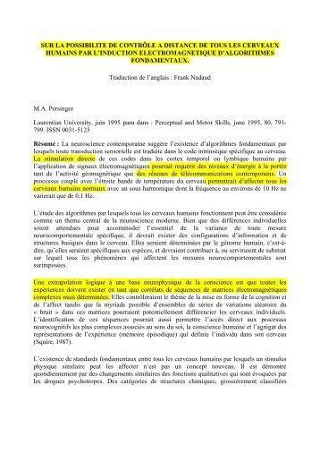 Télécharger l'article complet en langue française (PDF) - Mecanopolis