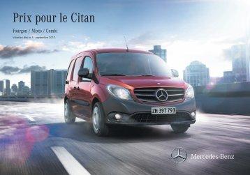 Télécharger le tarif du Citan - Mercedes-Benz