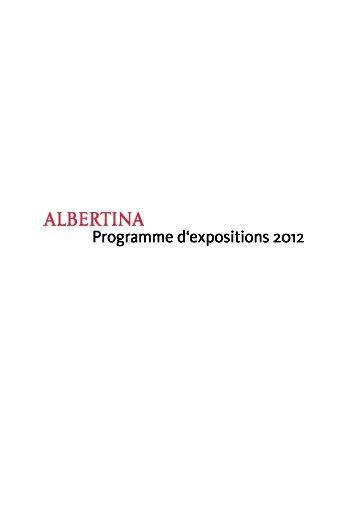 Programme des expositions 2012 - Albertina