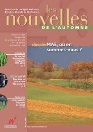 LN 40, automne 2006. - Portail de l'Agriculture wallonne