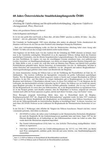 Vortrag anlässlich des 60-jährigen Bestehens der Österreichischen ...