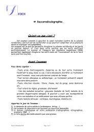 La saccoradiculographie - Hôpital Foch