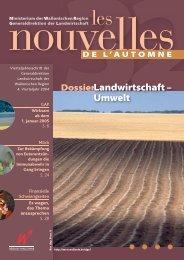 Landwirtschaft – Umwelt - Portail de l'Agriculture wallonne