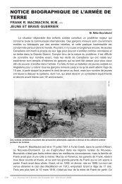 notice biographique de l'armée de terre frank r. macmackin, m.m.