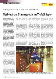 Ostfriesische Stimmgewalt im Tiefkühllager