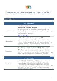 Veille-Internet-BPA - Réseau Environnement Santé