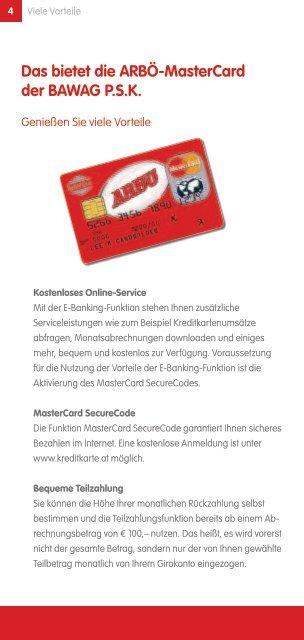 ArbÖ-Mastercard mit Tankbonus