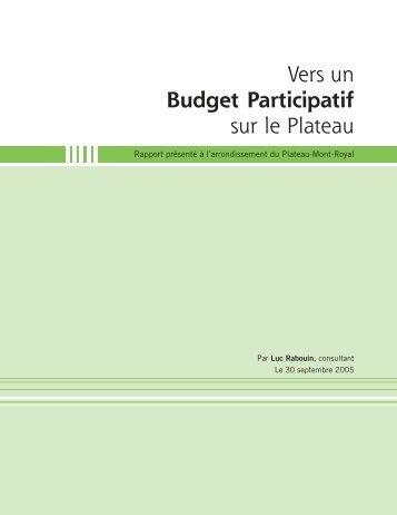 Vers un Budget Participatif sur le Plateau - Collectif Quartier