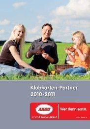 Klubkarten-Partner 2010-2011