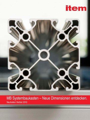 MB Systembaukasten – Neue Dimensionen entdecken.