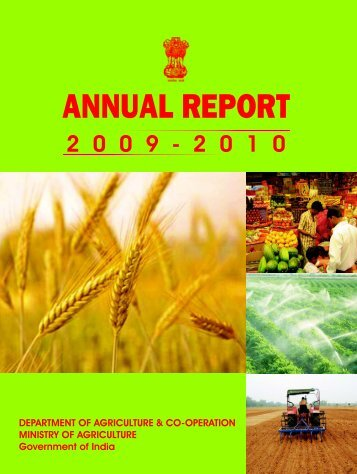 Annual Report 2009-2010 - Department of Agriculture & Co-operation