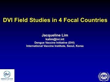 Jacqueline Lim - Dengue Vaccine Initiative
