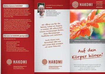 Hakomi-Folder Erich Bauer
