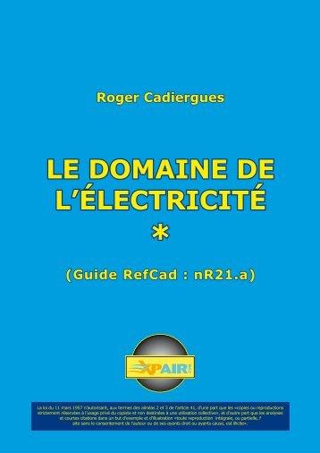 LE DOMAINE DE L'ÉLECTRICITÉ