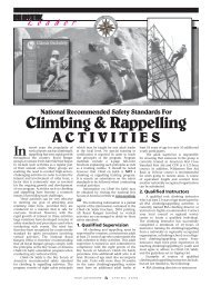Climbing & Rappelling Safety Standards - AG Web Services