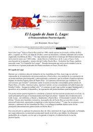 El Legado de Juan L. Lugo: - AG Web Services