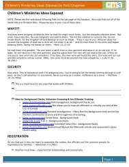 Children's Ministries Ideas Exposed - AG Web Services