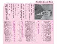 Name: Roy Hansen Position: W orship Pastor ... - AG Web Services