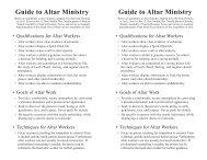 Guide to Altar Ministry Guide to Altar Ministry - AG Web Services