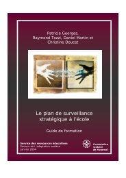 Le plan de surveillance stratégique à l'école - Commission scolaire ...