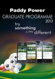 Paddy Power 2013 Graduate Programme Brochure