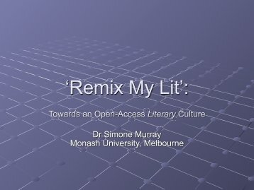 'Remix My Lit':