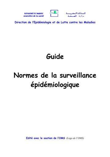 Guide Normes de la surveillance épidémiologique - Ministère de la ...