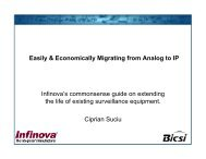 Easily & Economically Migrating from Analog to IP Infinova's ... - Bicsi