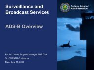 Surveillance and Broadcast Services ADS-B Overview