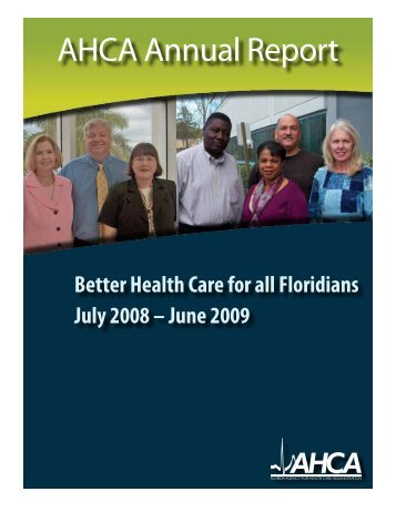AHCA Annual Report - Agency for Health Care Administration ...