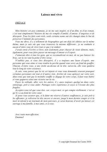 Télécharger le Livre GRATUITEMENT (format .pdf) - Laissez moi vivre