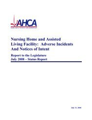 Nursing Home and Assisted Living Facility: Adverse Incidents And ...