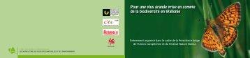 Colloque du SPW sur la biodiversité dans le cadre de la Présidence