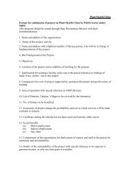 Plant Health Clinic Format for submission of project on Plant Health ...