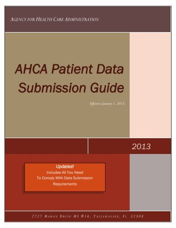 Data Guide 2013 - Agency for Health Care Administration